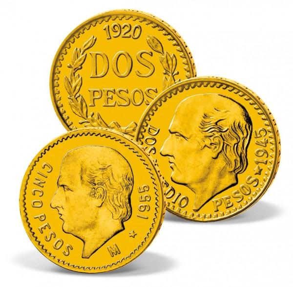 """Dreier-Set Goldmünzen """"Mexiko - Hidalgo"""" AT_2460081_1"""