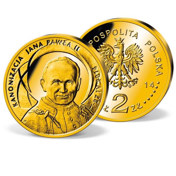 "Gedenkmünze 2 Zloty Polen ""Heiligsprechung Johannes Paul II."" 2014 AT_2520514_1"