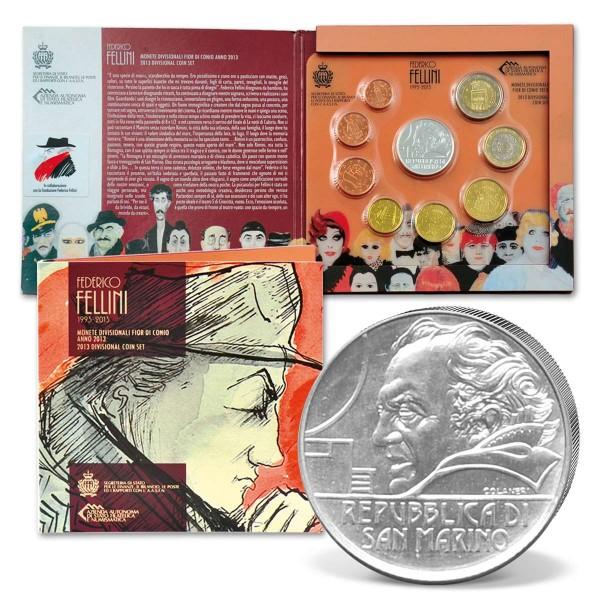 """Euro Kursmünzensatz San Marino """"Frederico Fellini"""" 2013 AT_2708694_1"""
