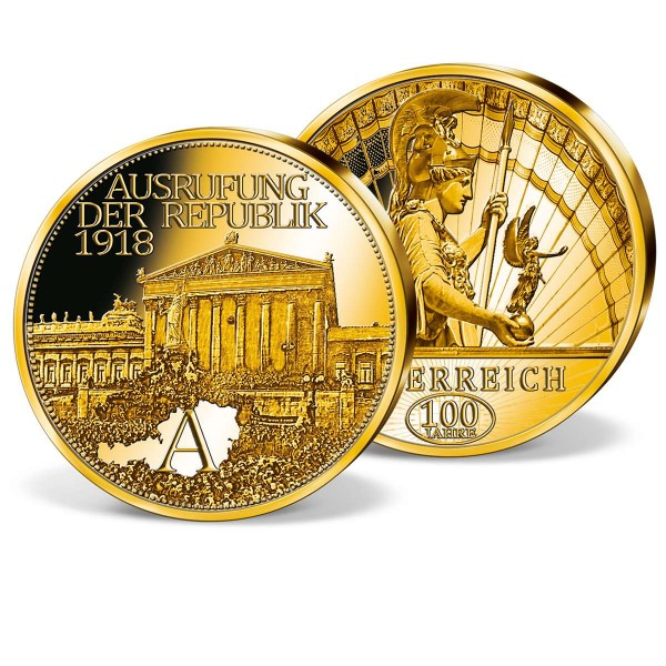 "Gold-Jubiläumsprägung ""Ausrufung der Republik 1918"" AT_9091801_1"