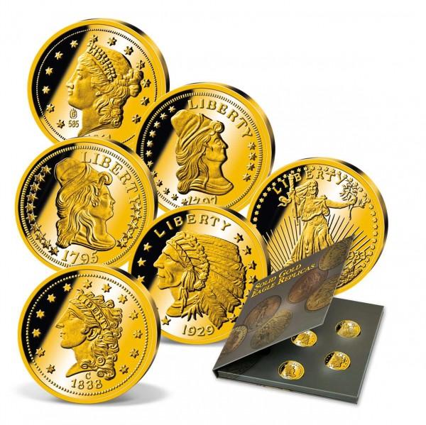 """Komplett-Set """"Gold Eagle"""" - Neuprägungen aus echtem Gold AT_9322300_1"""