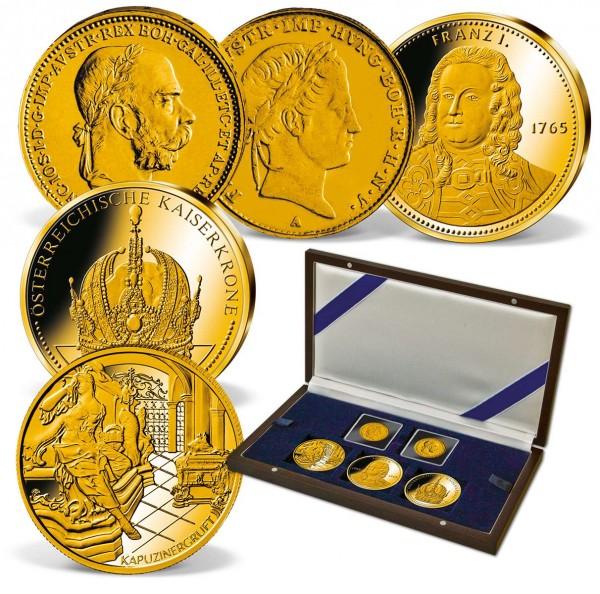 """5er Komplett-Set """"Die Kaiser Österreichs"""" in Gold AT_1550218_1"""