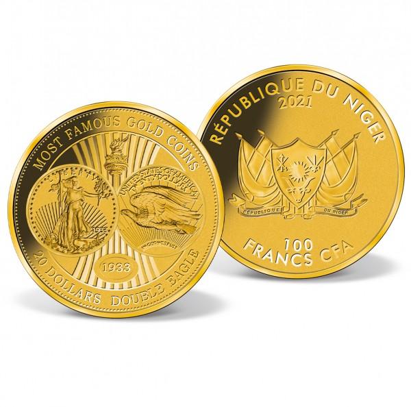 "Goldmünze 100 CFA ""20 Dollars Double Eagle"" AT_1739518_1"