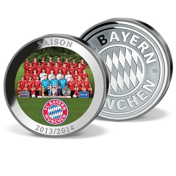 "Farbprägung ""FC Bayern München Mannschaft Saison 2013-2014"" AT_9856210_1"