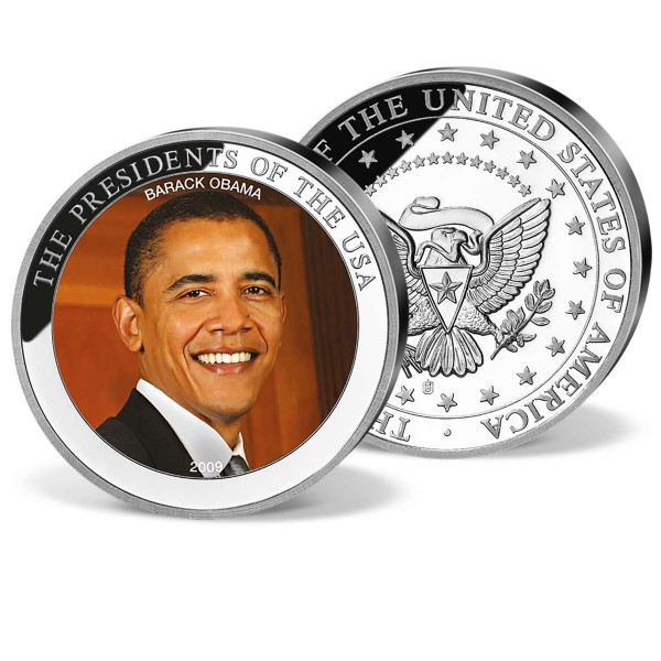 "Farb Gedenkprägung ""Barack Obama"" AT_1701366_1"