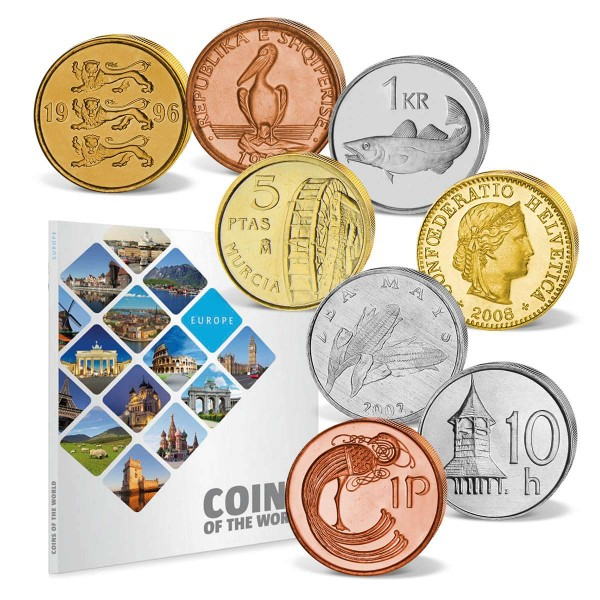 "48er Komplett-Set ""Coins of the World - Europa"" AT_8811005_1"