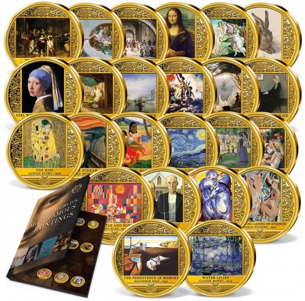 "24er Komplett-Set ""Die berühmtesten Gemälde der Welt"" AT_9534560_1"