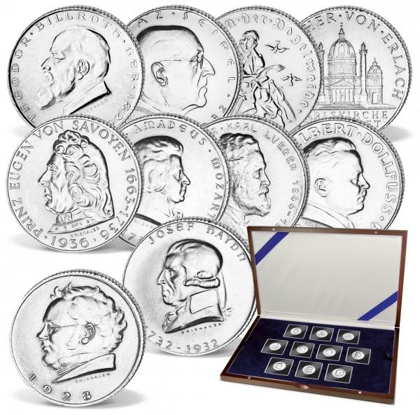 """10er Komplett-Set Silbermünzen """"Doppelschilling Österreich"""" AT_2547250_1"""